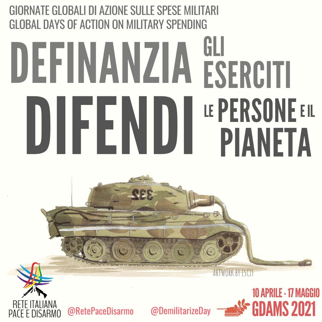 Ridurre la spesa militare, difendere le persone e il pianeta