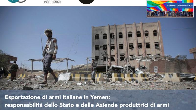 Esportazione di armi italiane in Yemen: responsabilità dello Stato e delle Aziende produttrici di armi