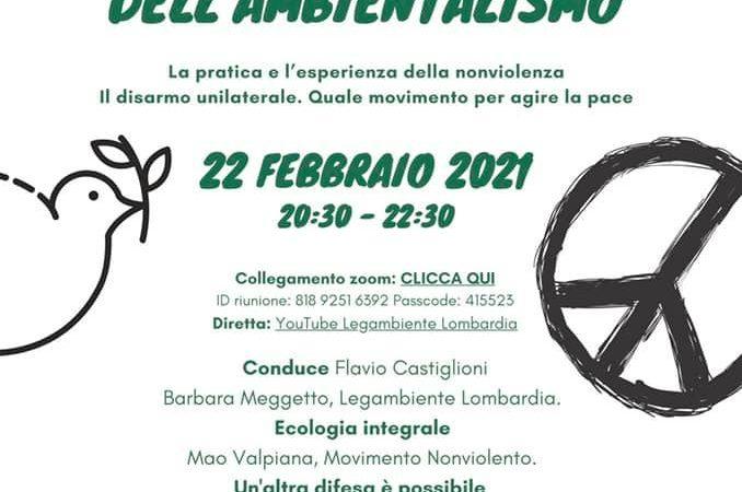 Nonviolenza radice dell'Ambientalismo