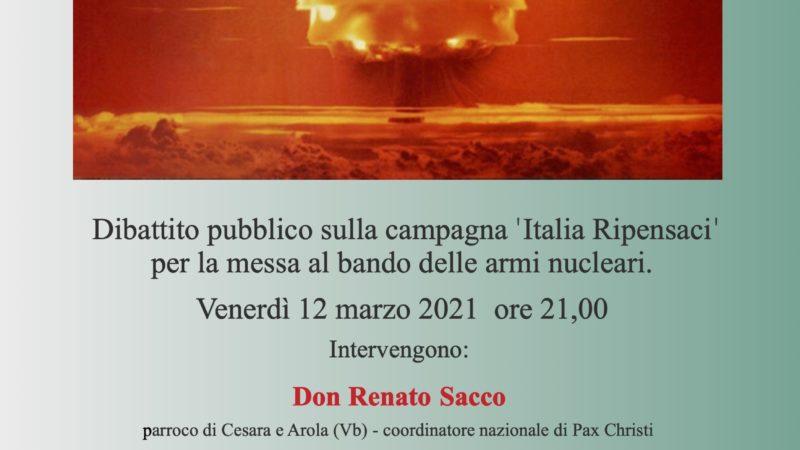 Italia, ripensaci: metti al bando la bomba