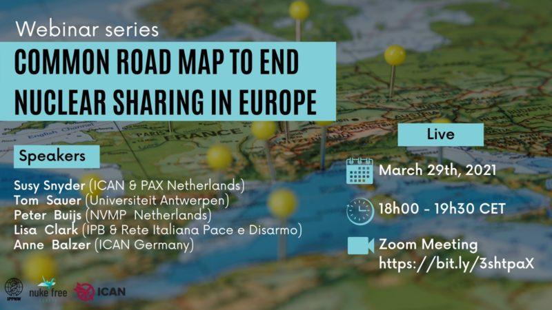 """Tabella di marcia europea per porre fine al """"nuclear sharing"""""""