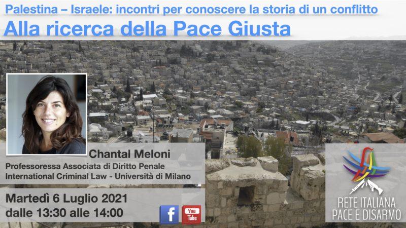 Alla ricerca della pace giusta, incontro con Chantal Meloni