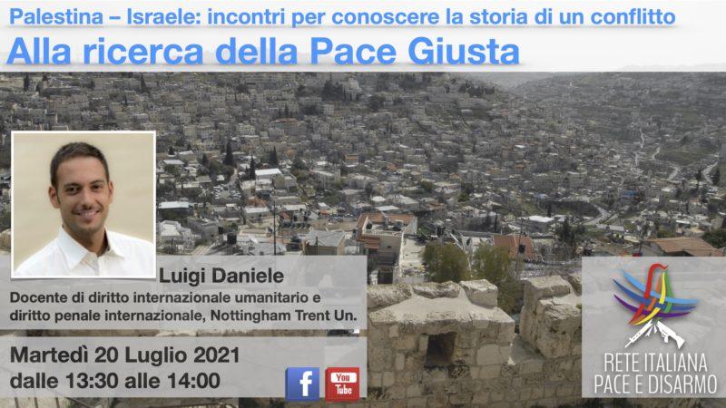 Alla ricerca della pace giusta, incontro con Luigi Daniele