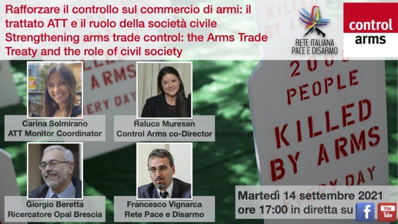 Rafforzare il controllo sul commercio di armi: il trattato ATT e il ruolo della società civile