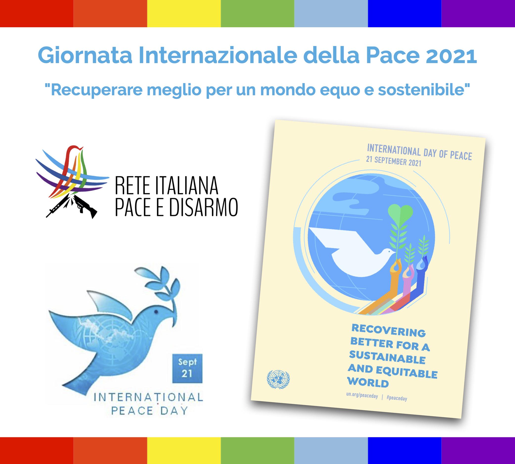 #PeaceDay 2021: La Rete Pace Disarmo compie un anno rafforzando il proprio lavoro per una società nonviolenta