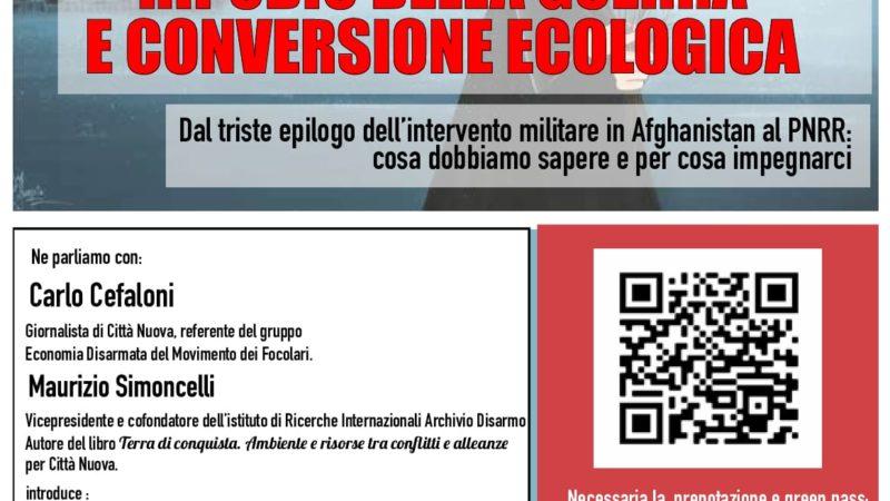 Ripudio della guerra e conversione ecologica
