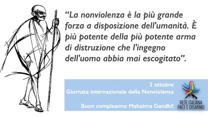 La Giornata Internazionale della Nonviolenza, per ricordare da dove parte il nostro cammino