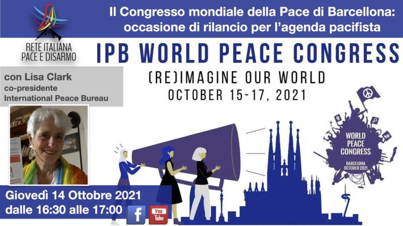 Il Congresso mondiale della Pace di Barcellona: occasione di rilancio per l'agenda pacifista